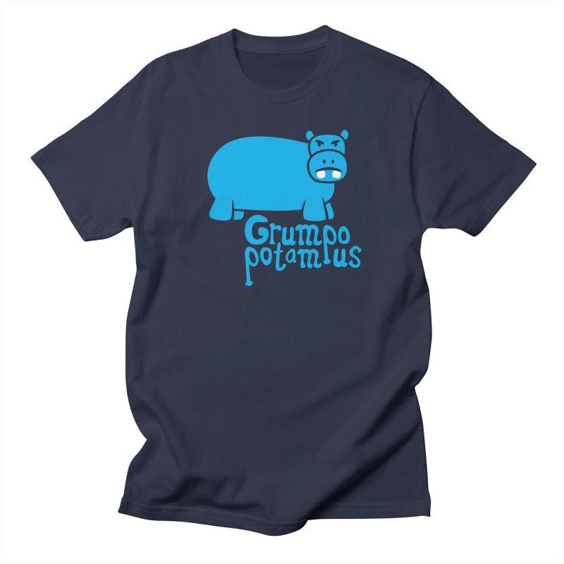 Grumpopotamus Women's Unisex T-Shirt by Robyriker Designs - Elishka Jepson