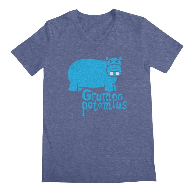 Grumpopotamus Men's V-Neck by Robyriker Designs - Elishka Jepson