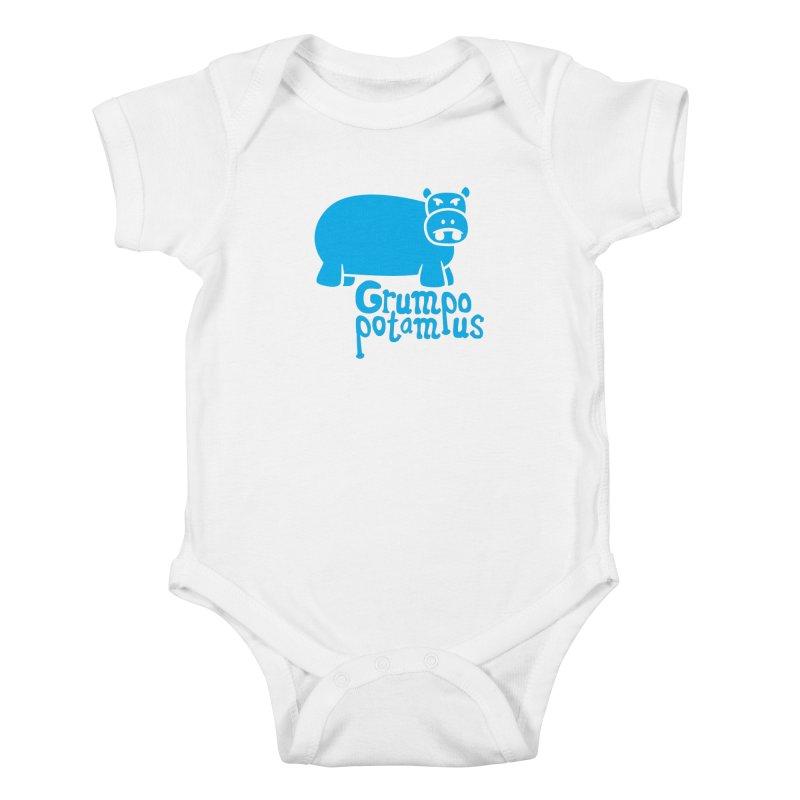 Grumpopotamus Kids Baby Bodysuit by Robyriker Designs - Elishka Jepson
