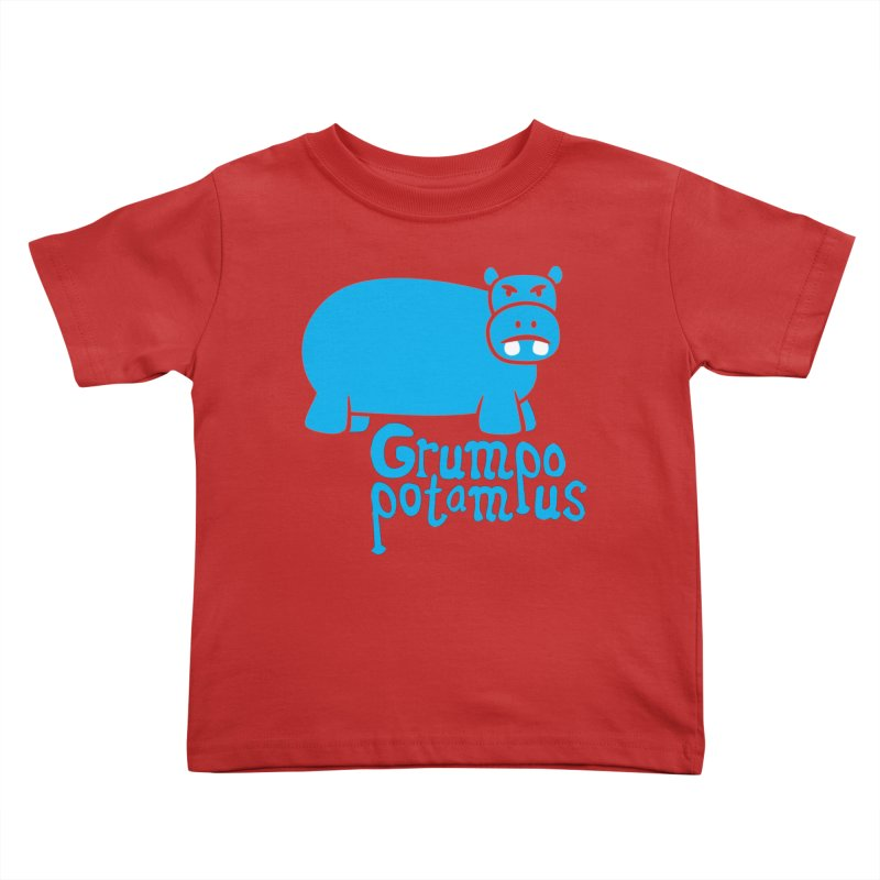 Grumpopotamus Kids Toddler T-Shirt by Robyriker Designs - Elishka Jepson