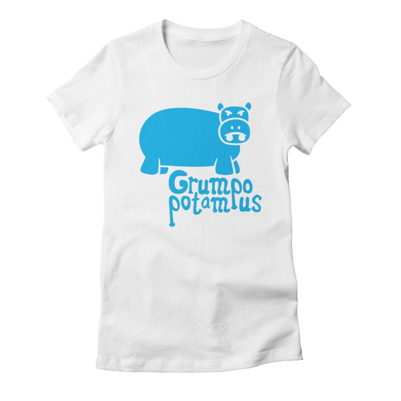 Grumpopotamus Women's Fitted T-Shirt by Robyriker Designs - Elishka Jepson