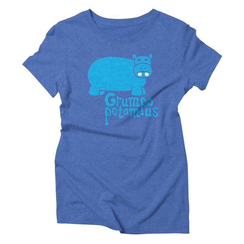 Grumpopotamus Women's Triblend T-Shirt by Robyriker Designs - Elishka Jepson