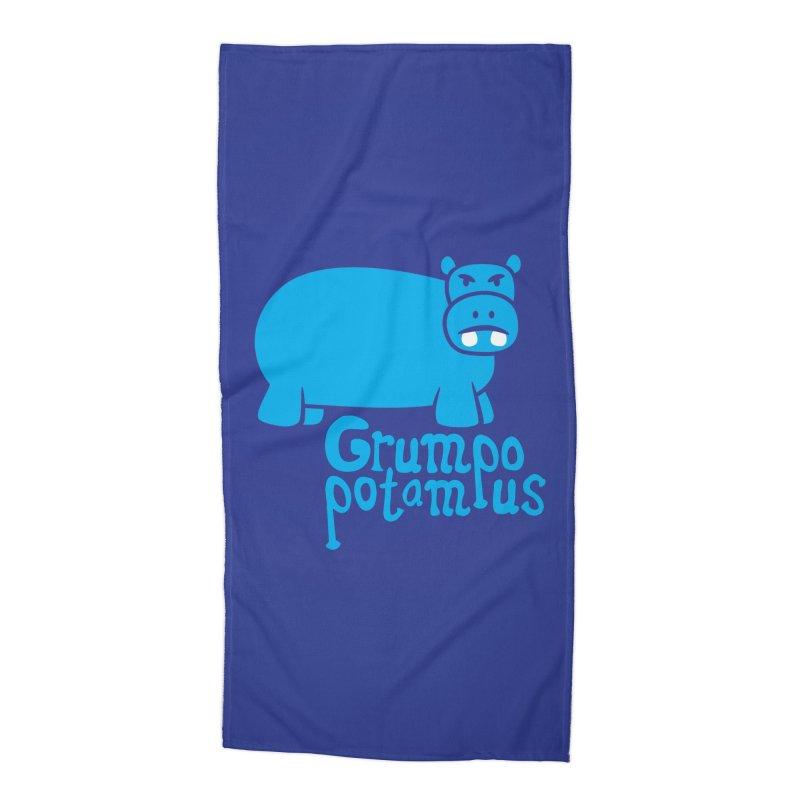 Grumpopotamus Accessories Beach Towel by Robyriker Designs - Elishka Jepson