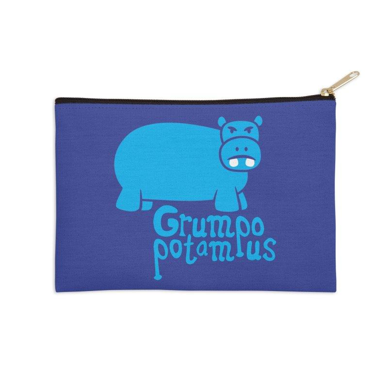 Grumpopotamus Accessories Zip Pouch by Robyriker Designs - Elishka Jepson