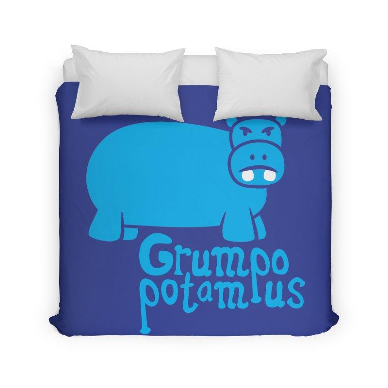 Grumpopotamus Home Duvet by Robyriker Designs - Elishka Jepson