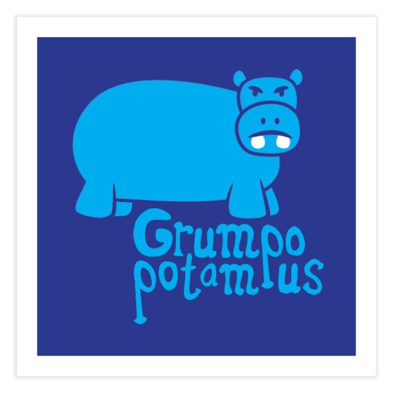 Grumpopotamus Home Fine Art Print by Robyriker Designs - Elishka Jepson