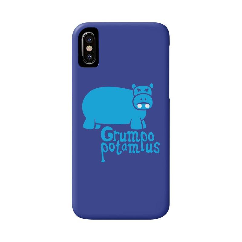 Grumpopotamus Accessories Phone Case by Robyriker Designs - Elishka Jepson