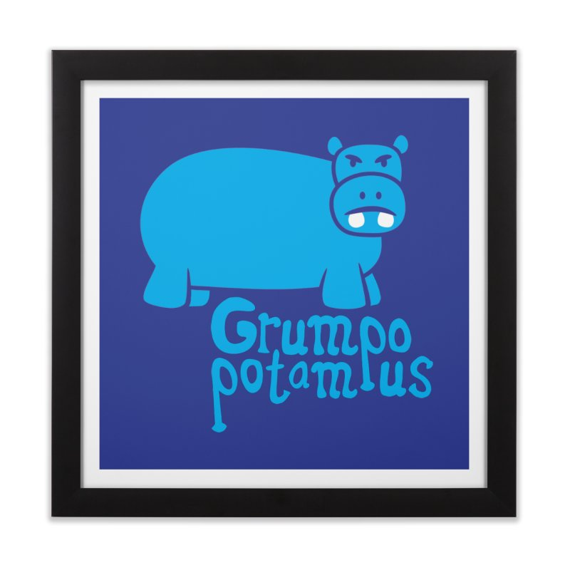 Grumpopotamus Home Framed Fine Art Print by Robyriker Designs - Elishka Jepson