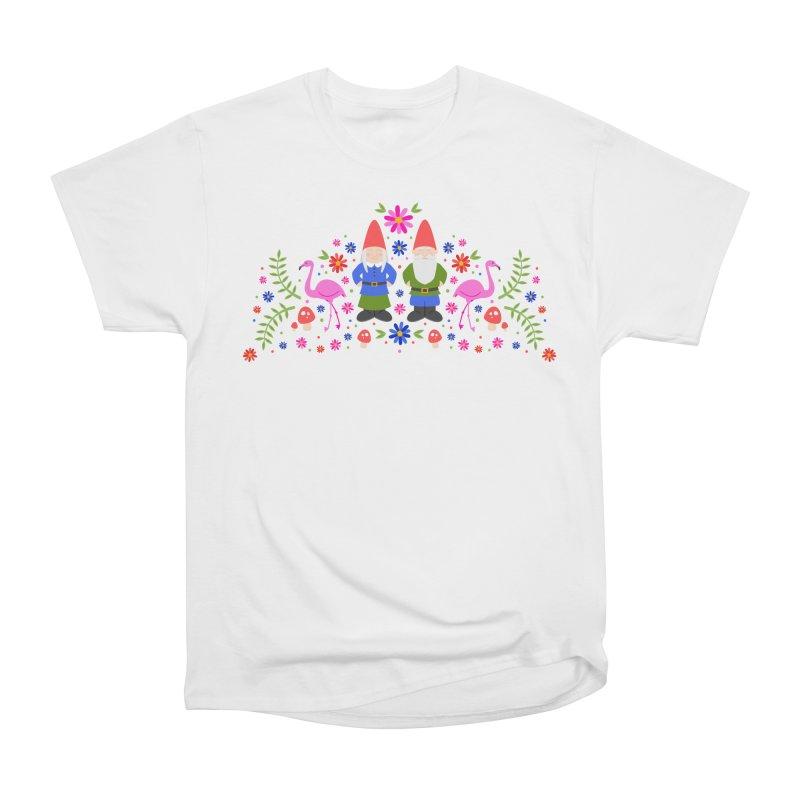 Gnome Garden Men's Heavyweight T-Shirt by Robyriker Designs - Elishka Jepson