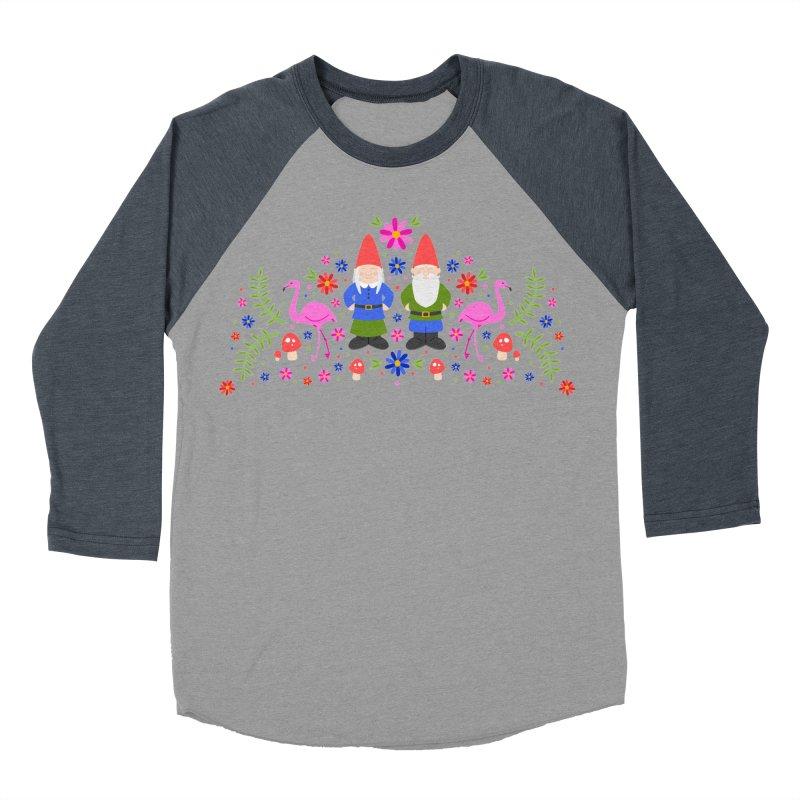 Gnome Garden Men's Baseball Triblend T-Shirt by Robyriker Designs - Elishka Jepson