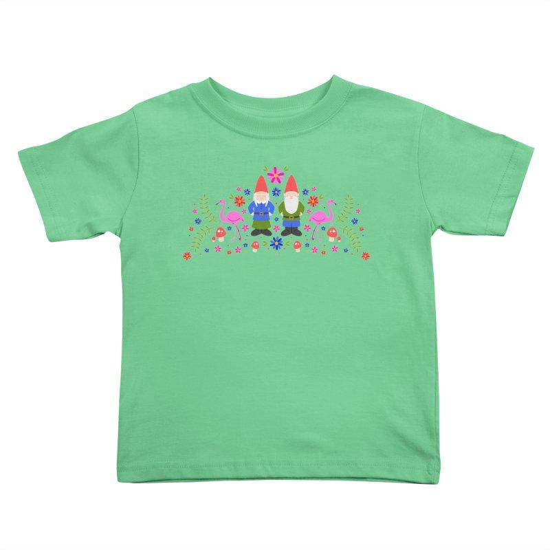 Gnome Garden Kids Toddler T-Shirt by Robyriker Designs - Elishka Jepson