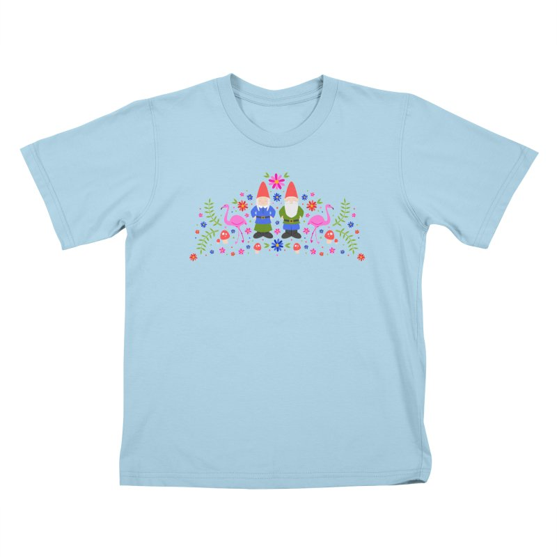 Gnome Garden Kids T-Shirt by Robyriker Designs - Elishka Jepson
