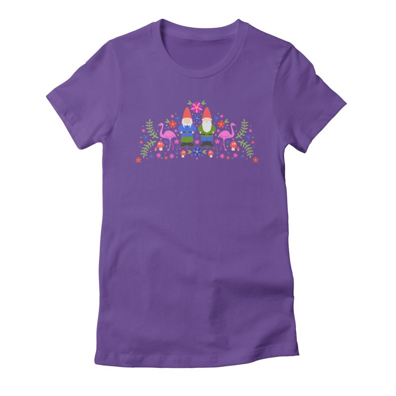 Gnome Garden Women's Fitted T-Shirt by Robyriker Designs - Elishka Jepson