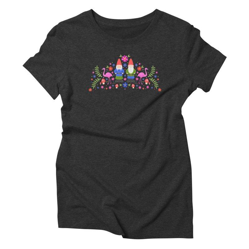 Gnome Garden Women's Triblend T-Shirt by Robyriker Designs - Elishka Jepson