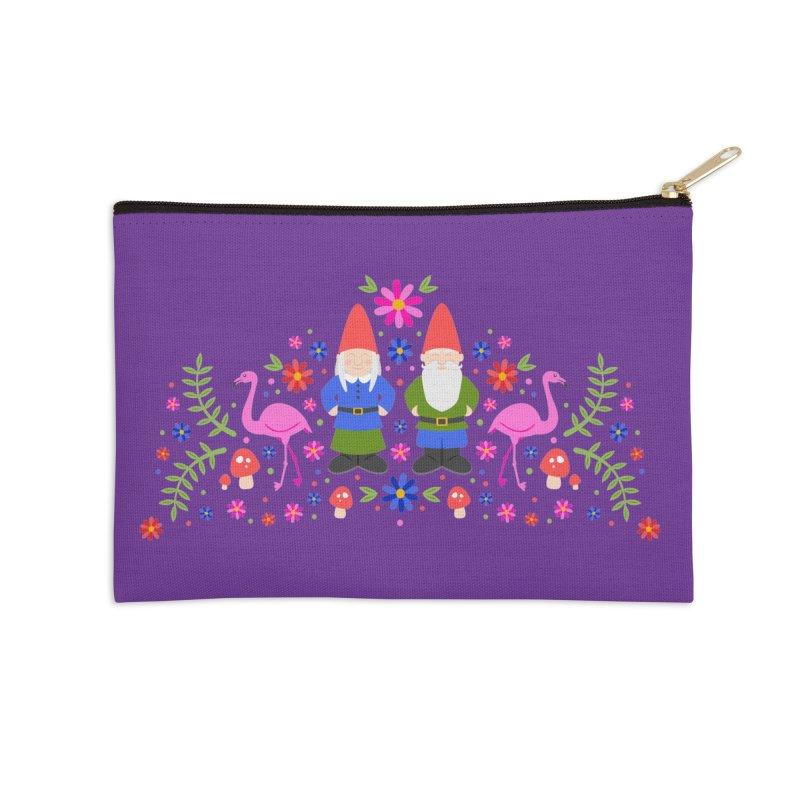 Gnome Garden Accessories Zip Pouch by Robyriker Designs - Elishka Jepson
