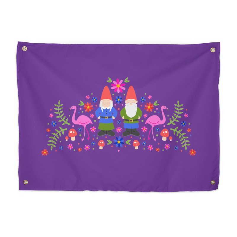 Gnome Garden Home Tapestry by Robyriker Designs - Elishka Jepson