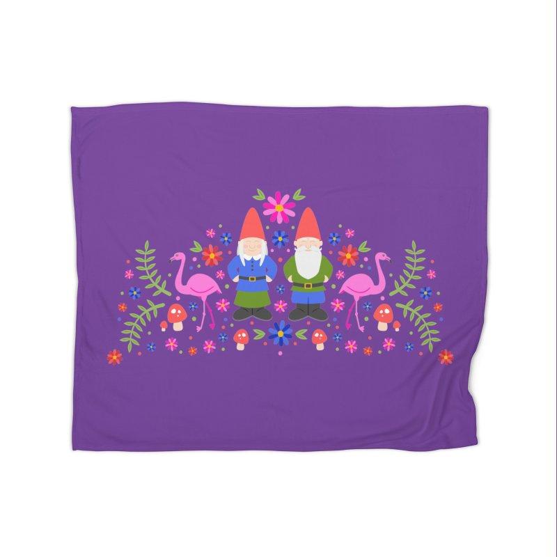 Gnome Garden Home Blanket by Robyriker Designs - Elishka Jepson