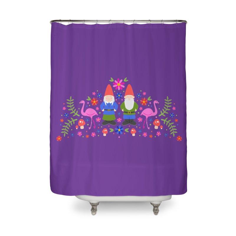 Gnome Garden Home Shower Curtain by Robyriker Designs - Elishka Jepson
