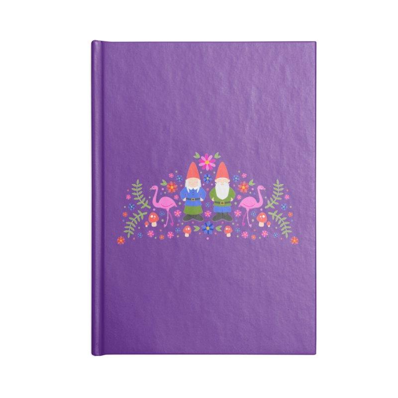 Gnome Garden Accessories Notebook by Robyriker Designs - Elishka Jepson