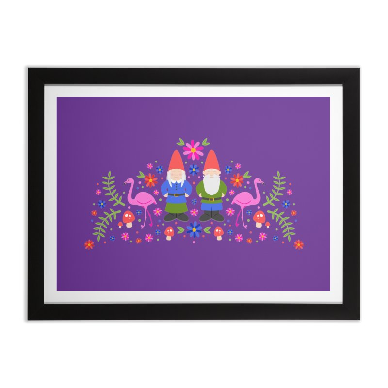 Gnome Garden Home Framed Fine Art Print by Robyriker Designs - Elishka Jepson