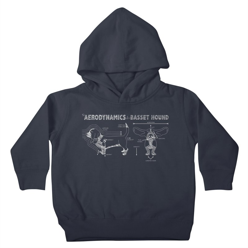 The Aerodynamics of a Basset Hound Kids Toddler Pullover Hoody by Robyriker Designs - Elishka Jepson