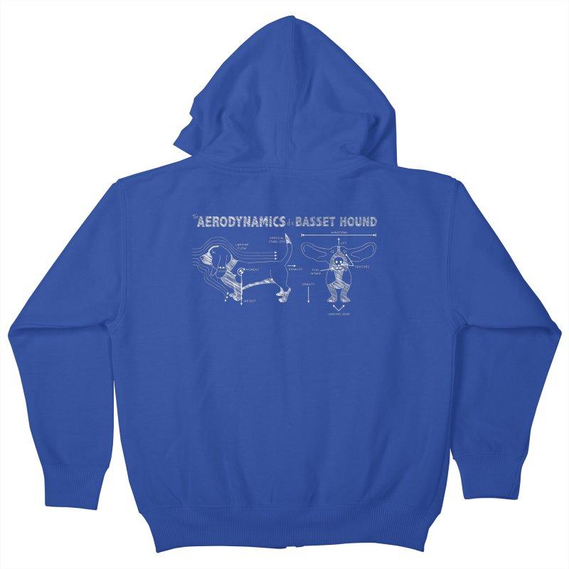 The Aerodynamics of a Basset Hound Kids Zip-Up Hoody by Robyriker Designs - Elishka Jepson