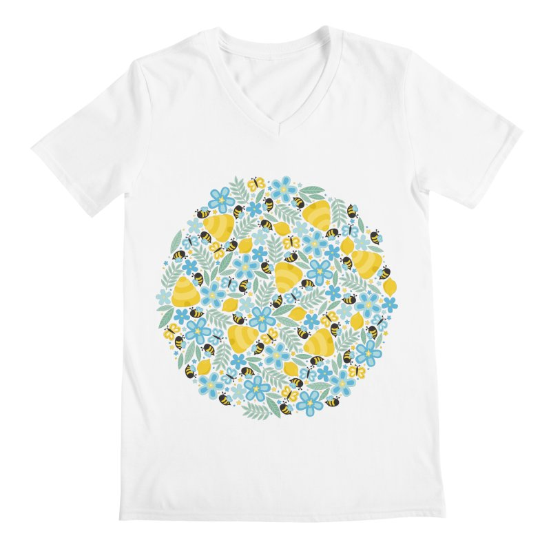 Busy Little Honeybees Men's V-Neck by Robyriker Designs - Elishka Jepson