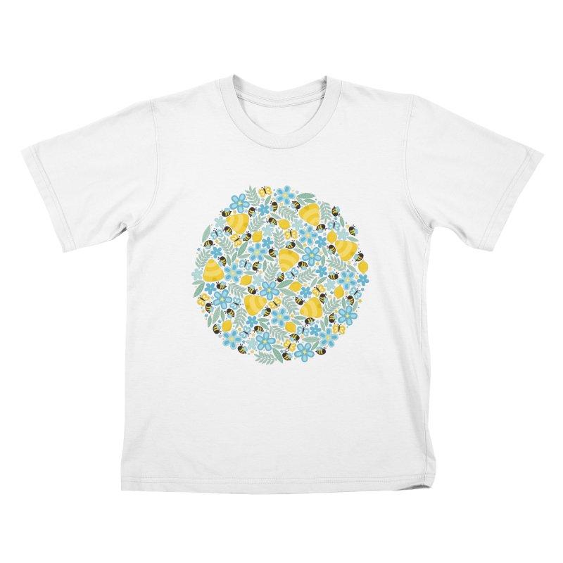 Busy Little Honeybees Kids T-shirt by Robyriker Designs - Elishka Jepson