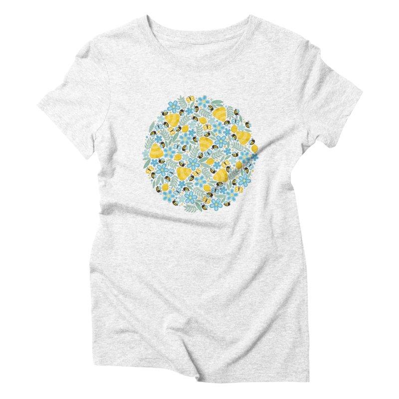 Busy Little Honeybees Women's Triblend T-shirt by Robyriker Designs - Elishka Jepson