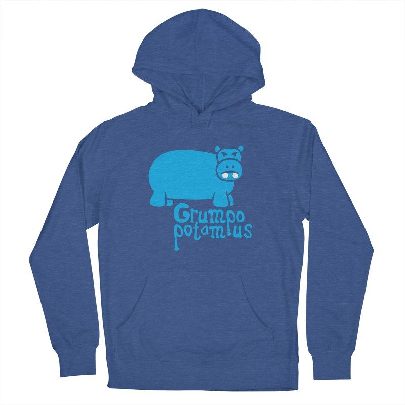 Grumpopotamus Men's Pullover Hoody by Robyriker Designs - Elishka Jepson