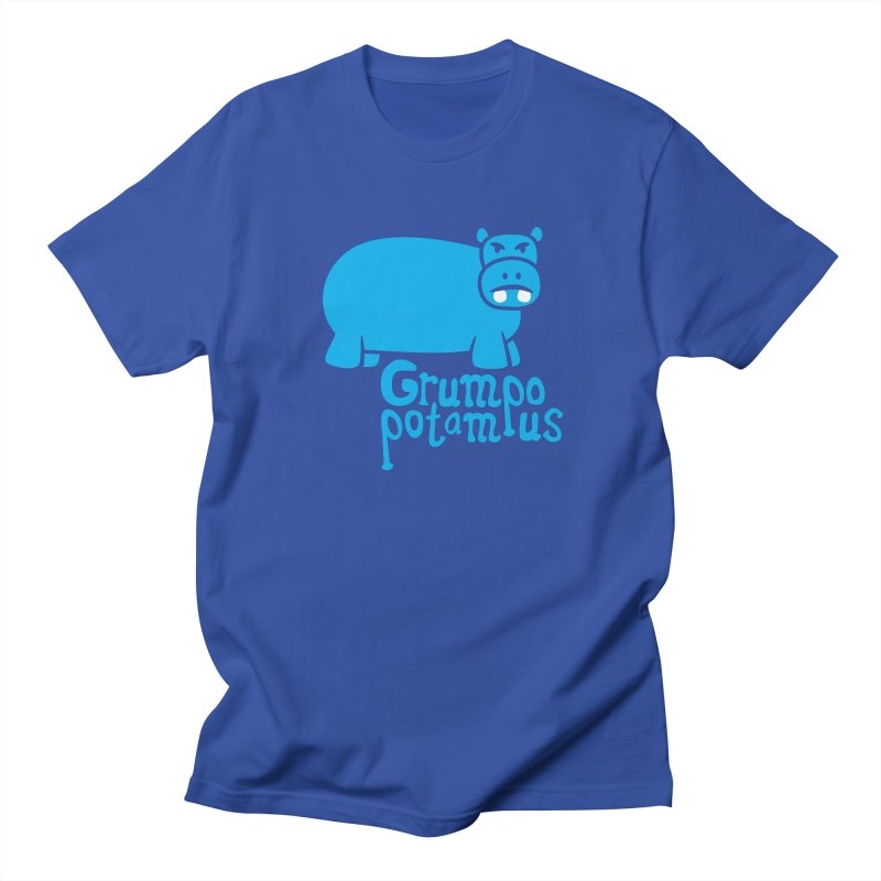 Grumpopotamus Men's T-shirt by Robyriker Designs - Elishka Jepson
