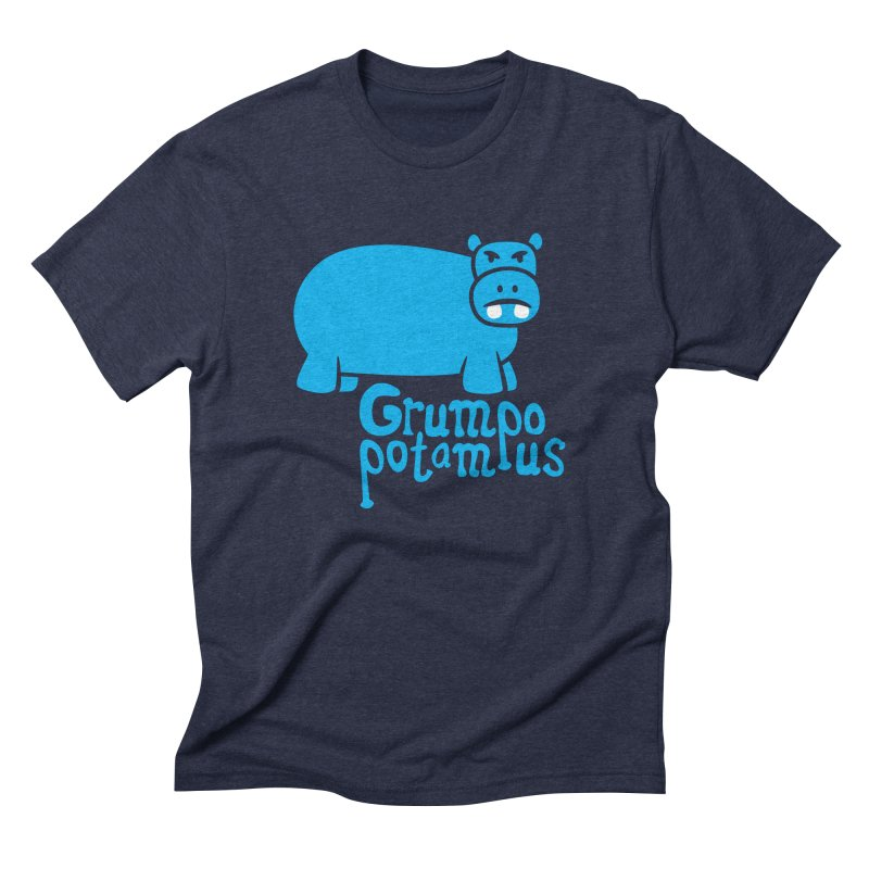 Grumpopotamus Men's Triblend T-shirt by Robyriker Designs - Elishka Jepson