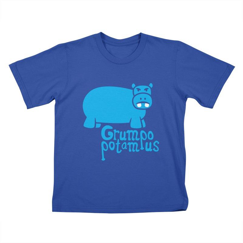 Grumpopotamus Kids T-shirt by Robyriker Designs - Elishka Jepson