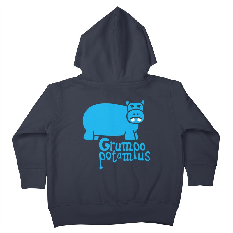 Grumpopotamus Kids Toddler Zip-Up Hoody by Robyriker Designs - Elishka Jepson