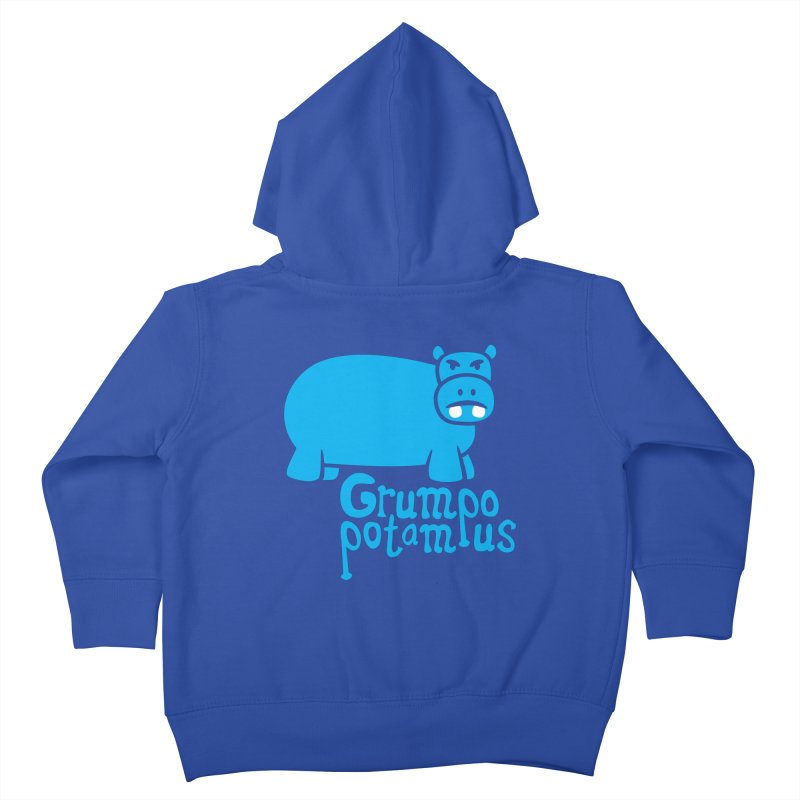 Grumpopotamus Kids Toddler Zip-Up Hoody by Robyriker Designs - Elishka Jepson