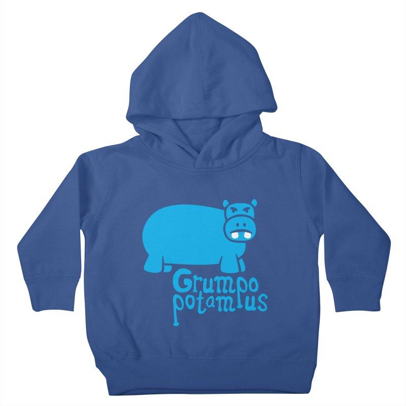 Grumpopotamus Kids Toddler Pullover Hoody by Robyriker Designs - Elishka Jepson