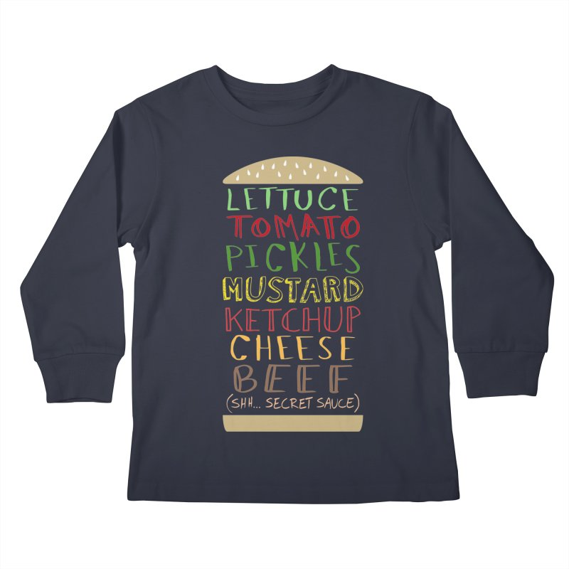 Don't Forget the Secret Sauce Kids Longsleeve T-Shirt by Robyriker Designs - Elishka Jepson