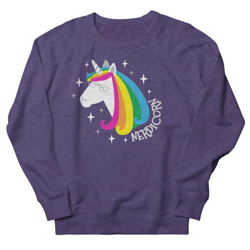 Nerdicorn Women's Sweatshirt by Robyriker Designs - Elishka Jepson