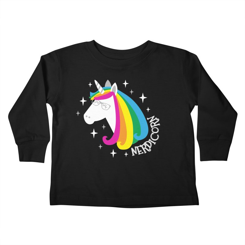 Nerdicorn Kids Toddler Longsleeve T-Shirt by Robyriker Designs - Elishka Jepson