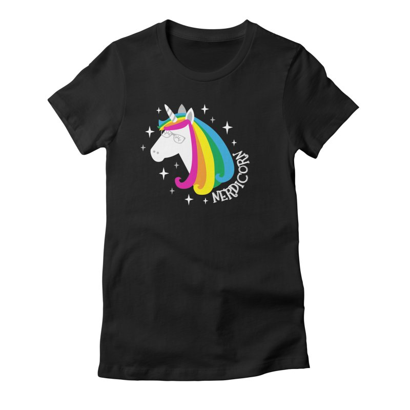 Nerdicorn Women's Fitted T-Shirt by Robyriker Designs - Elishka Jepson