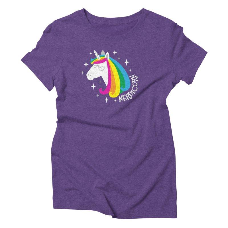 Nerdicorn Women's Triblend T-Shirt by Robyriker Designs - Elishka Jepson