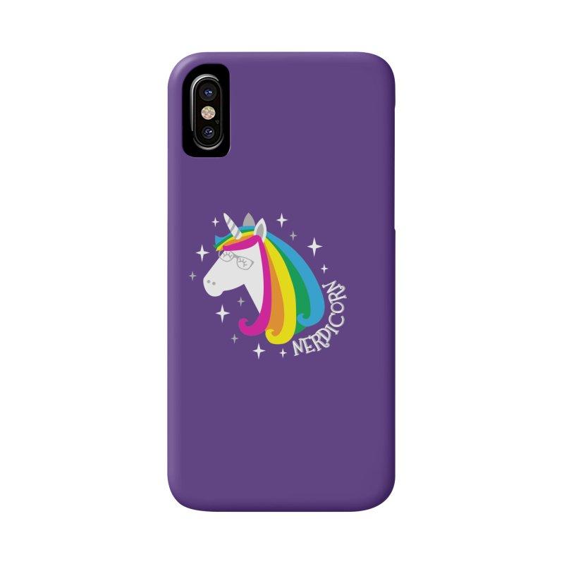 Nerdicorn Accessories Phone Case by Robyriker Designs - Elishka Jepson