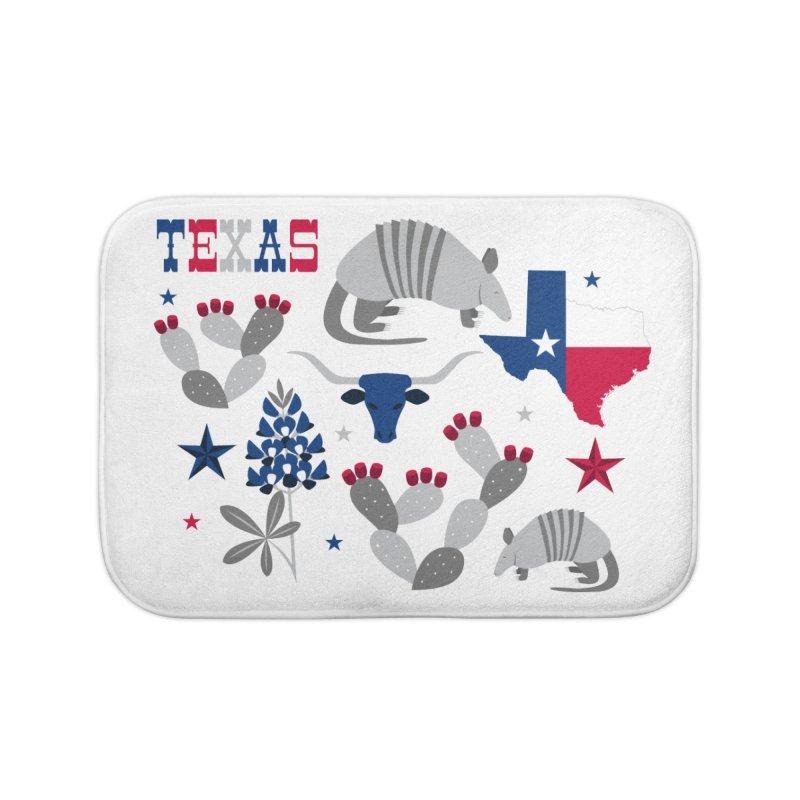 Symbols of Texas Home Bath Mat by Robyriker Designs - Elishka Jepson