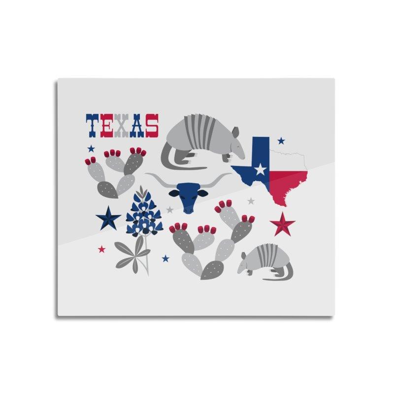 Symbols of Texas Home Mounted Aluminum Print by Robyriker Designs - Elishka Jepson