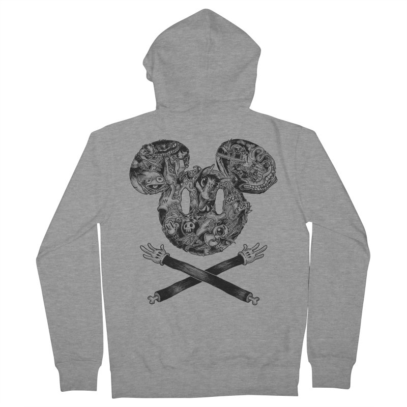 The Mouse Men's Zip-Up Hoody by rocafort's Artist Shop