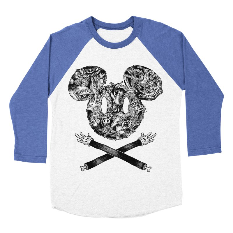 The Mouse Men's Baseball Triblend T-Shirt by rocafort's Artist Shop