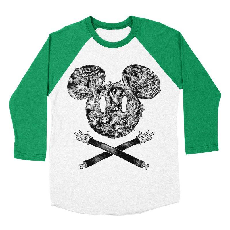 The Mouse Men's Baseball Triblend T-Shirt by rocafort's Artist Shop