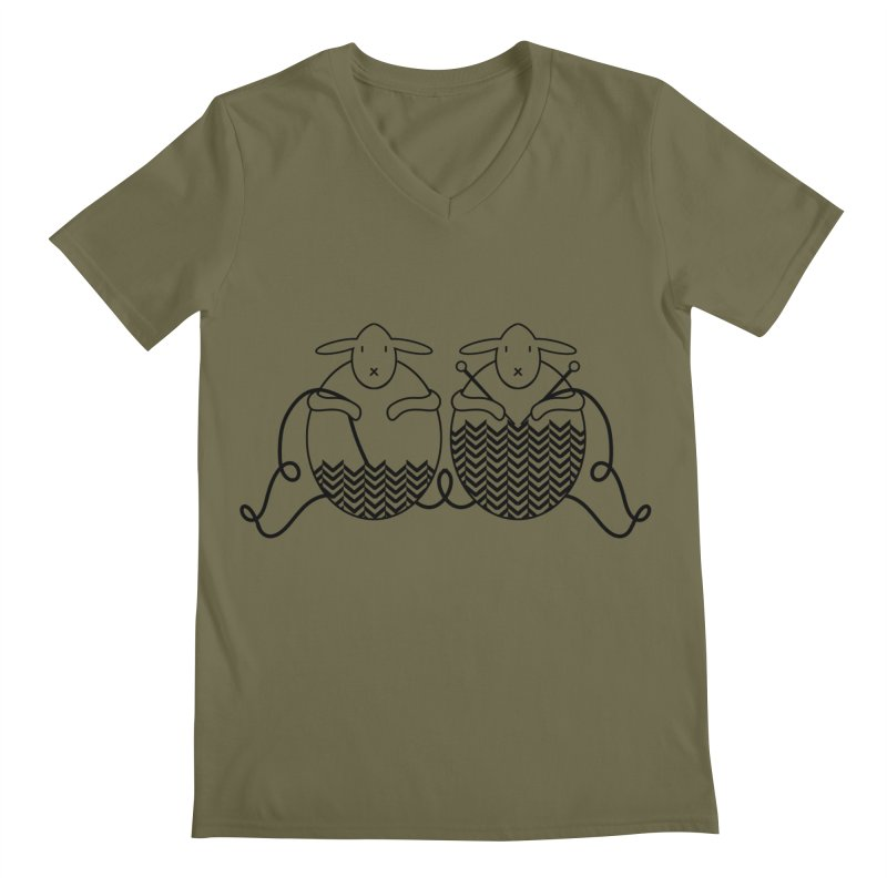 Is it me or is it getting cold? Men's Regular V-Neck by Rocain's Artist Shop