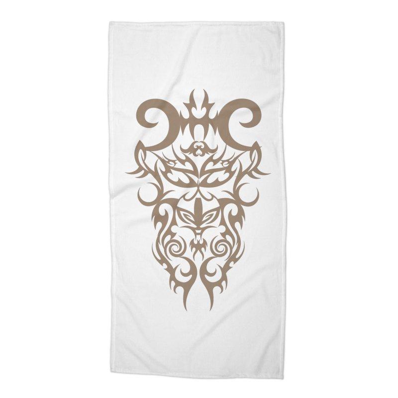 Rocain Logo Accessories Beach Towel by Rocain's Artist Shop