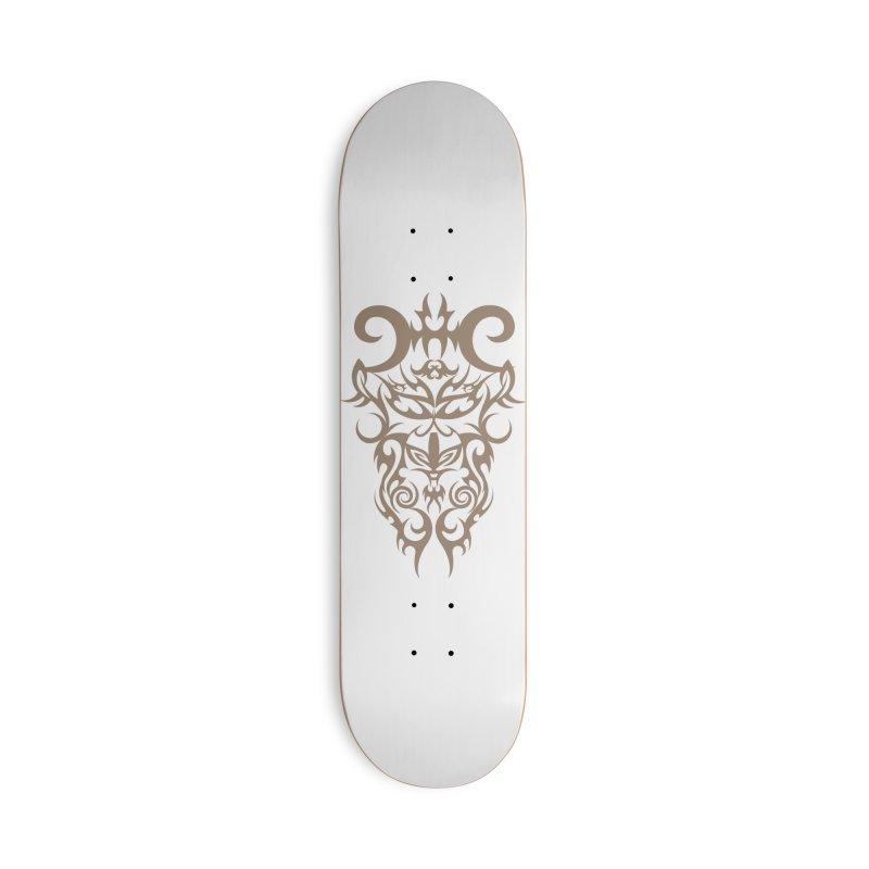 Rocain Logo Accessories Deck Only Skateboard by Rocain's Artist Shop
